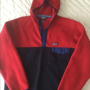 Patagonia Synchilla hooded colorblock fleece